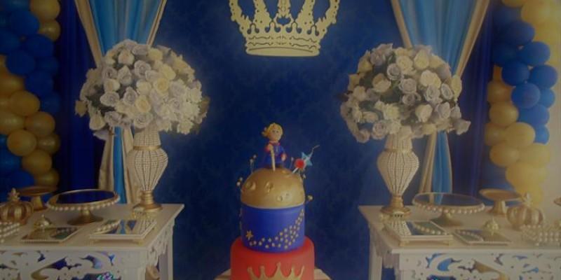Pequeno Príncipe Azul e Dourado
