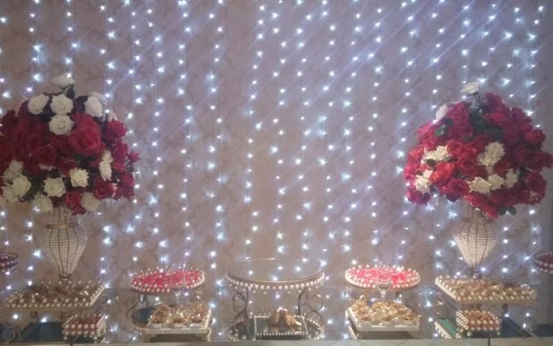 Casamento Vermelho e dourado com led - Foto 10
