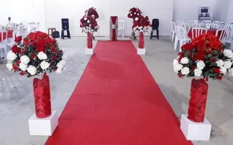 Casamento Vermelho e dourado com led - Foto 3