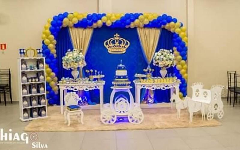 Realeza Coroa Azul e Dourado - Foto 1
