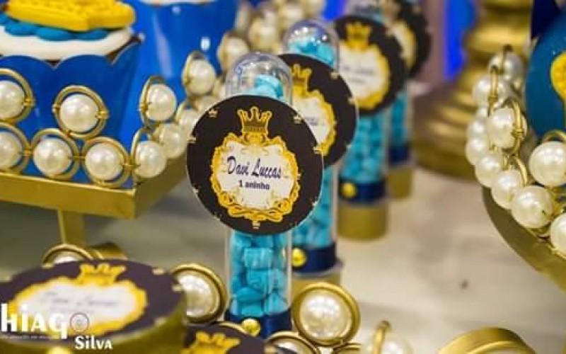 Realeza Coroa Azul e Dourado - Foto 9