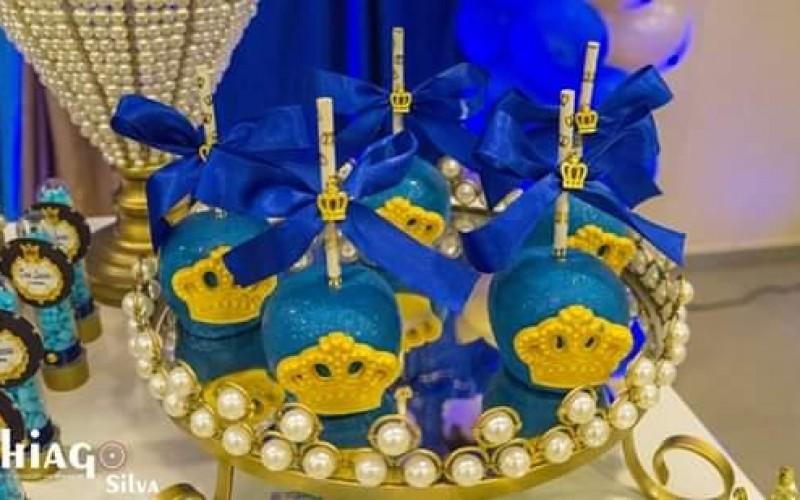Realeza Coroa Azul e Dourado - Foto 10