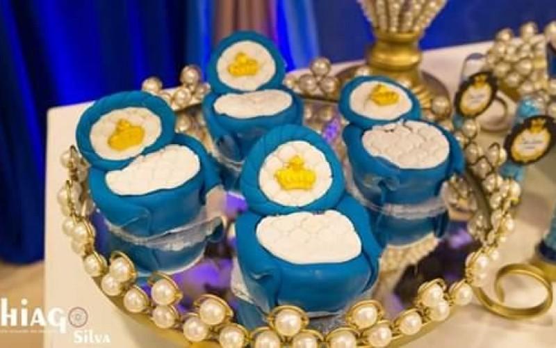 Realeza Coroa Azul e Dourado - Foto 5