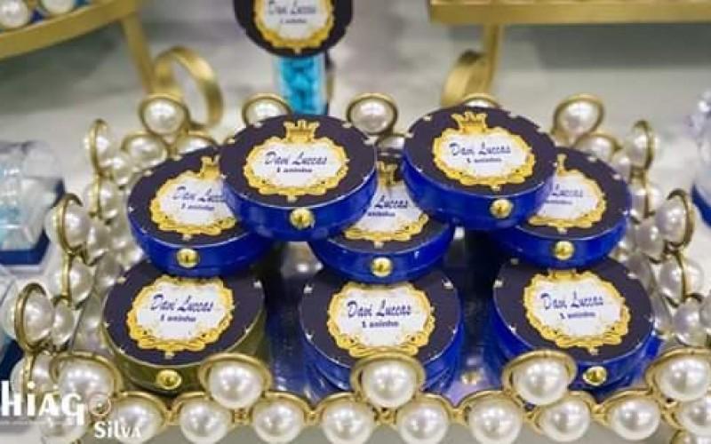 Realeza Coroa Azul e Dourado - Foto 7