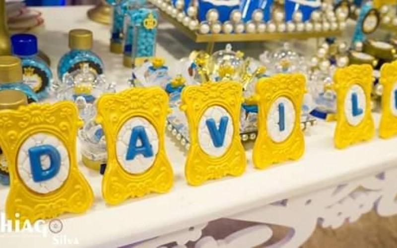 Realeza Coroa Azul e Dourado - Foto 8