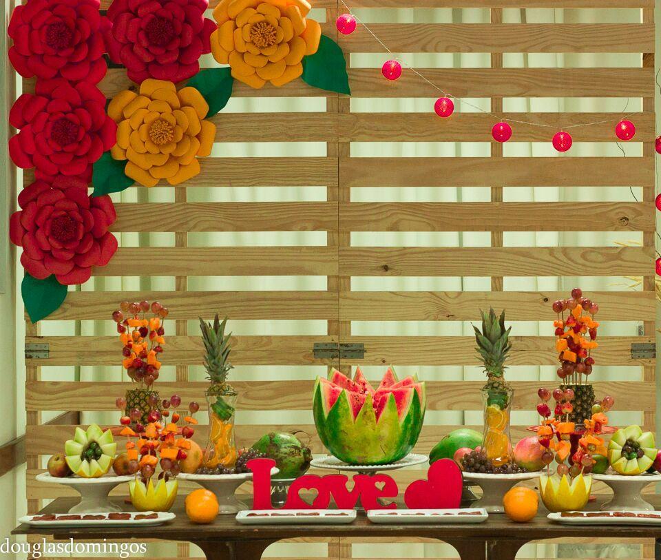 Mesa de Frutas Realeza Festas -> Decoração De Frutas Para Mesa